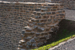 Old stone wall with old patterns on Castle Hardenberg Stock Image