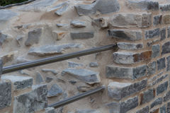Old stone wall with old patterns on Castle Hardenberg Royalty Free Stock Photos