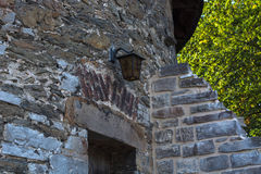 Old stone wall with old patterns on Castle Hardenberg Royalty Free Stock Photo