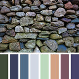 Old stone wall palette Stock Image
