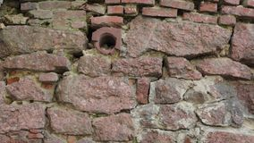 Old stone wall stock footage