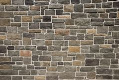 Old Stone Wall Pattern. A beautiful stone wall background with rich color Royalty Free Stock Photos