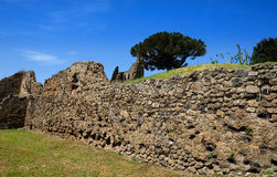 Old stone wall, Pompeii Stock Image