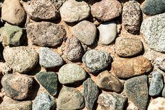Stone wall texture. An old stone wall texture Royalty Free Stock Photos