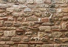 Old stone wall texture. Nessebur, Bulgaria Royalty Free Stock Photo