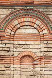 Old stone wall texture, Church in Nessebar Royalty Free Stock Photos