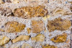 Old stone wall texture for background Royalty Free Stock Images