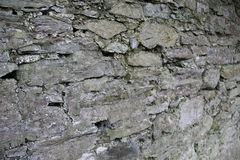 Old Stone wall with texture. Somewhere in Ireland royalty free stock photo