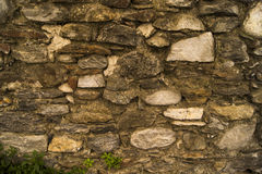 Old stone wall. With various kinds of bricks and stones Stock Images
