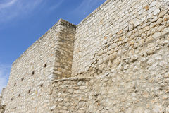 Old stone wall in the village of chinchon, madrid, spain Stock Photos