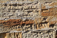 Old stone wall. Old weathered English stone wall Royalty Free Stock Image