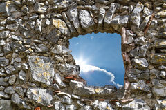 Old stone Wall with Window Stock Photography