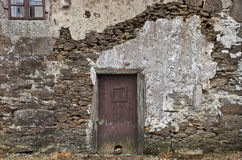 Old Stone Wall With Door Royalty Free Stock Photography