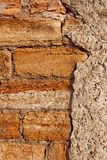 Old stone walls of city buildings, texture cement wall Stock Photo