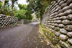 Old stone Walls of Hachijojima Japan Royalty Free Stock Images