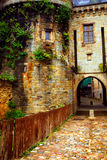 Old stone walls in Rennes royalty free stock image