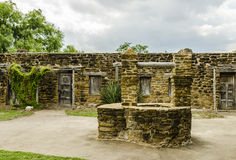 Old stone well at Mission San Jose in San Antonio, Texa Stock Photography
