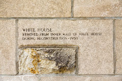 Old Stone from White House Stock Photos
