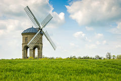 An old stone windmill in field Stock Image