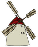 Old stone windmill Royalty Free Stock Images
