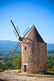 Old stone windmill in Provence, France Royalty Free Stock Photos