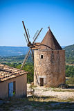 Old stone windmill in Provence, France Royalty Free Stock Photography
