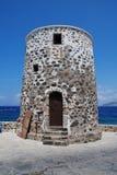 Stone windmill on Nisyros Stock Photos