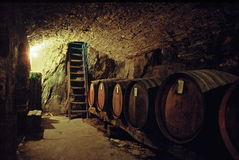Old stone wine cellar Royalty Free Stock Photography
