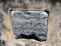Free Old Stone With Spanish Inscriptions Royalty Free Stock Image - 199086