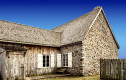 Old stone & wood house Royalty Free Stock Photo