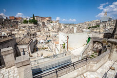Old stones buildings and ancient Italian village in Matera in Italy Stock Photo