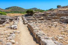Old stones of Gournia. Crete, Greece Royalty Free Stock Images