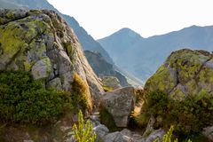 Old stones in mountains Stock Photos
