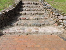 Old stones stairs, Lithuania royalty free stock image