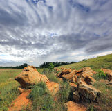 Old stones  in steppe Royalty Free Stock Image