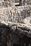 Old stones wall of a fortress Royalty Free Stock Photos