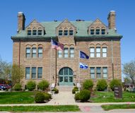 Old Stoney. This is a Spring picture of the Old Frankfort High School in Frankfort, Indiana. The school was known as Old Stoney. The school was built in 1892 and royalty free stock images