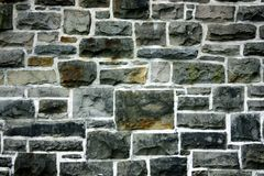 The old stony wall. In Glasgow streets Stock Photo