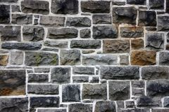 The old stony wall. In Glasgow streets Royalty Free Stock Photography