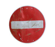 Old stop road sign Stock Images