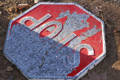 Old stop sign Royalty Free Stock Photography