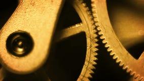 Old Stopwatch Clock Gears Mechanism HD stock video