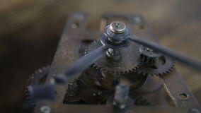 Old stopwatch clock gears mechanism with tick-tick sound stock video