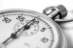 Old stopwatch close up. With selective focus stock image