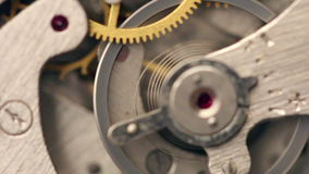 Old Stopwatch mechanism stock footage