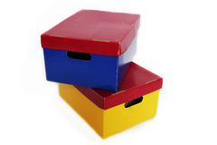 Old Storage boxes Stock Photos