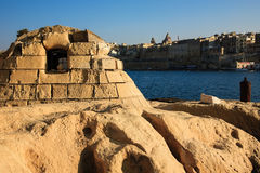Old storage building constructed, Malta Stock Photos