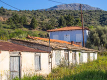 Old Storage Sheds. Old disused storage sheds, huts, Greece Stock Photos