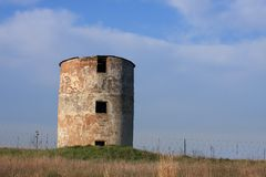 Old storage silo Royalty Free Stock Image