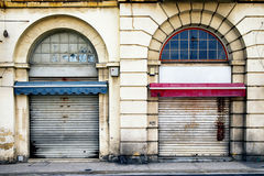 Old store front. Nice facade Royalty Free Stock Photos